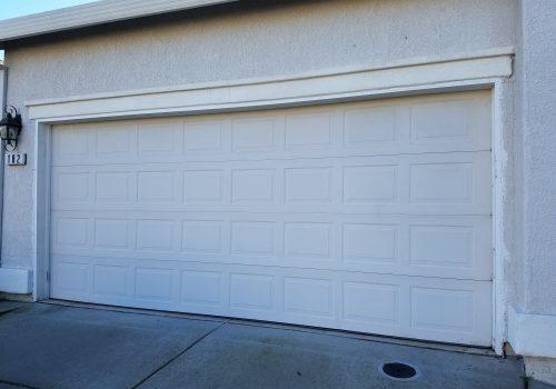 before garage door
